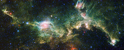 Science Fiction Royalty-Free and Rights-Managed Images - Seagull Nebula by Adam Romanowicz
