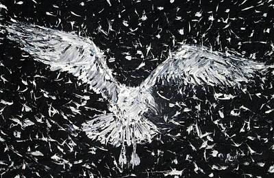 Seagull - Oil Portrait Art Print by Fabrizio Cassetta