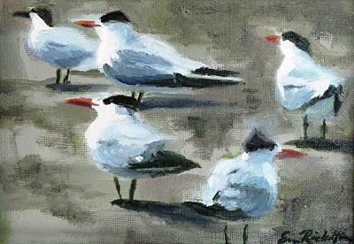 Painting - Seagulls by Erin Rickelton