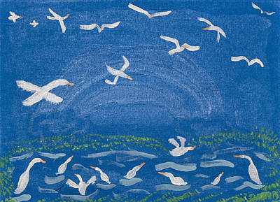 Painting - Seagulls by Melissa Dawn