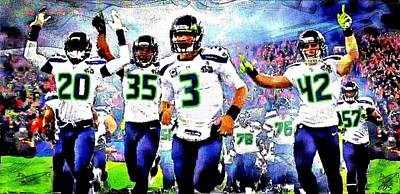 Digital Art - Seahawks by Carrie OBrien Sibley
