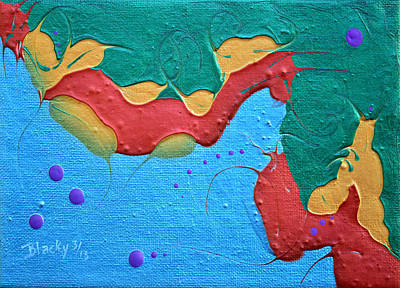 Drips Painting - Seahorse by Donna Blackhall