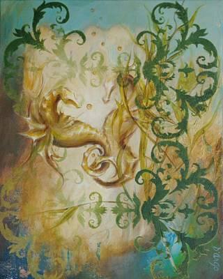Seahorse Dream 2 Art Print by Dina Dargo