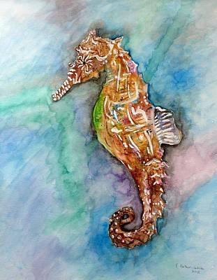 Seahorse Art Print by E White