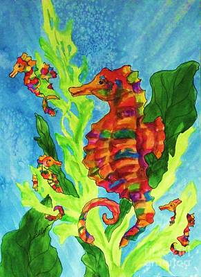 Painting - Seahorse Family by Ellen Levinson
