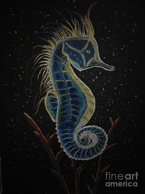 Seaweed Drawing - Seahorse by Ginny Youngblood