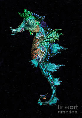 Digital Art - Seahorse II Underwater Ripple by Lynn Jackson