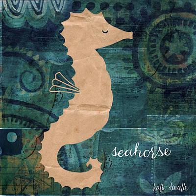 Seahorse Art Print by Katie Doucette