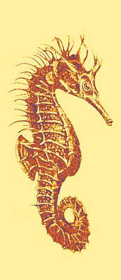 Seahorse Digital Art - Seahorse- Left Facing by Jane Schnetlage