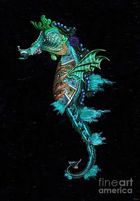 Digital Art - Seahorse by Lynn Jackson