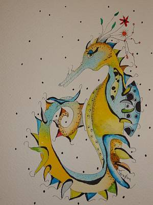 Seahorse Print by Michelle Thompson