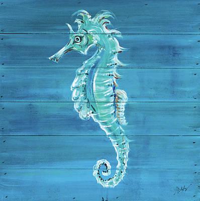 Seahorse Wall Art - Painting - Seahorse by Molly Susan Strong