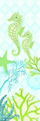 Seahorse Digital Art - Seahorse Reef Panel II by Andi Metz