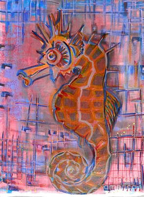 Painting - Seahorse Sandy by L Cecka