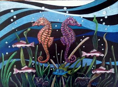 Seahorses And Friends Original by David Syers