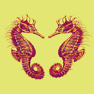 Digital Art - Seahorses In Love by Jane Schnetlage
