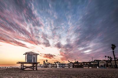 Photograph - Seal Beach Sunset #3 by George Pennock