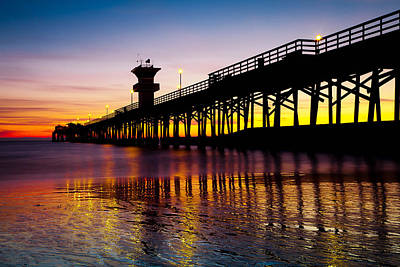 California Photograph - Seal Beach Sunset #2 by George Pennock