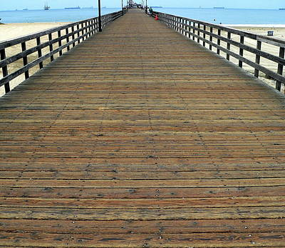 Photograph - Seal Beach Pier by Jeff Lowe