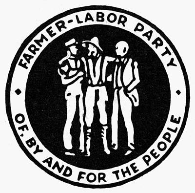 Democratic Party Painting - Seal Farmer-labor Party by Granger