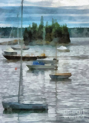 Seal Harbor Maine Art Print by Helene Guertin