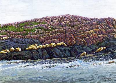 Painting - Seal Island by Thomas Michael Meddaugh