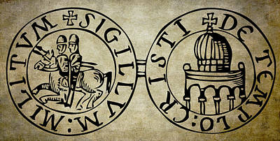 Coat Of Arms Digital Art - Seal Of The Knights Templar by Daniel Hagerman
