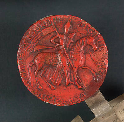 Seal Of Waleran De Beaumont Art Print by British Library