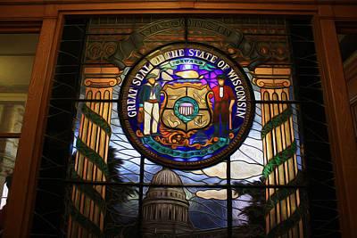 Digital Art - Seal Of Wisconsin by Geoff Strehlow