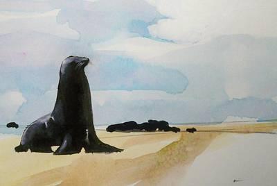 Seal Rock Art Print by Ed  Heaton