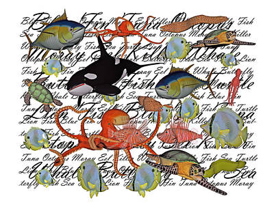 Sealife Dreamland IIi Art Print by Betsy Knapp