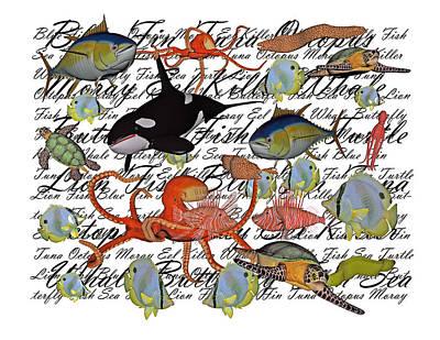 Reptiles Digital Art - Sealife Dreamland III by Betsy Knapp