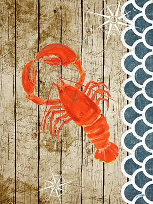 Sealife Lobster Art Print by Julie Derice