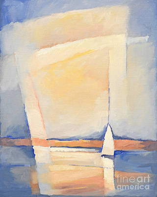 Sailboat Painting - Sealight Impression by Lutz Baar