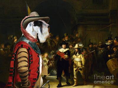 Sealyham Terrier Art - The Company Of Captain Print by Sandra Sij