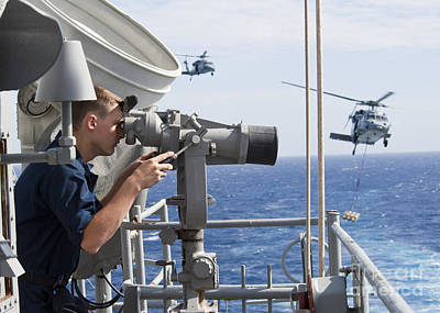 Seaman Apprentice Stands Watch Aboard Print by Stocktrek Images