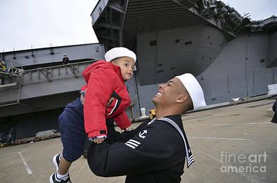 Seaman Greets His Son Art Print