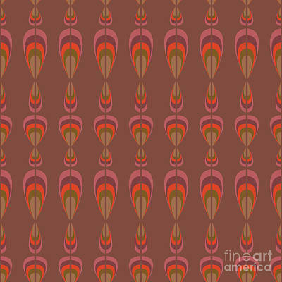 Furniture Wall Art - Digital Art - Seamless Geometric Vintage Wallpaper by Leszek Glasner