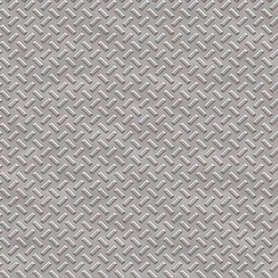 Metallic Sheets Digital Art - Seamless Metal Texture Rhombus Shapes 1 by REDlightIMAGE