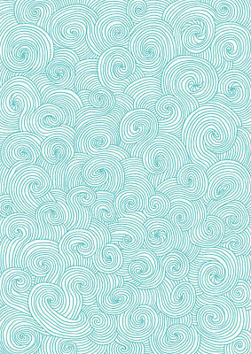 Digital Art - Seamless Pattern Of Doodle Swirls And by Beastfromeast