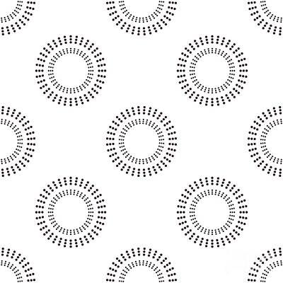 Rolling Stone Magazine Wall Art - Digital Art - Seamless Pattern With Circles. Vector by Brumarina