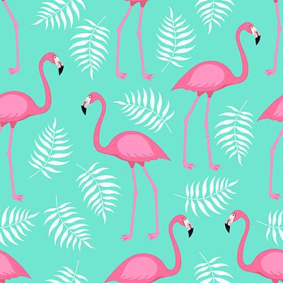 Digital Art - Seamless Trendy Tropical Pattern With by Ekaterina Bedoeva
