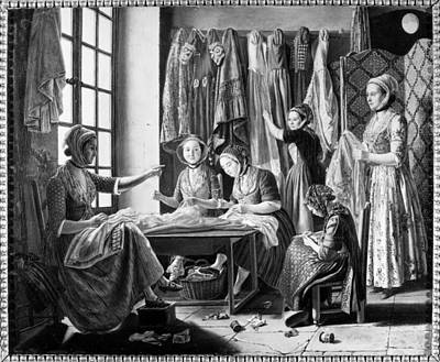 Seamstress Painting - Seamstresses, C1810 by Granger