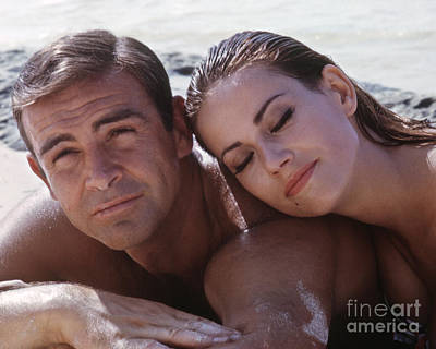 Sean Connery Photograph - Sean Connery And Claudine Auger Cropped Version by The Harrington Collection