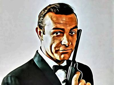 Painting - Sean Connery As James Bond by Florian Rodarte