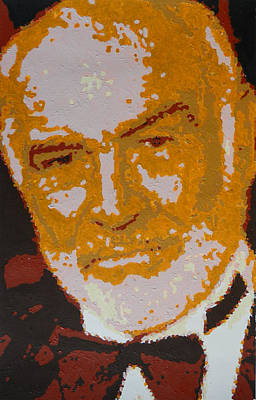 Painting - Sean Connery Portrait by Samuel Majcen