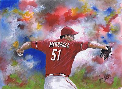 Painting - Sean Marshall by Jerry Bates