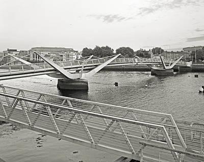 Sean O'casey Bridge Dublin Ireland Art Print
