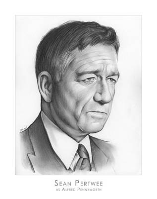 Alfred Drawing - Sean Pertwee by Greg Joens
