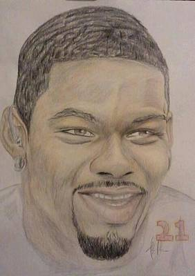 Sean Taylor Drawing - Sean Taylor by Kipani Joi